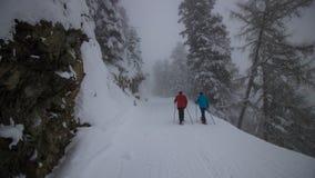 Un giorno di inverno nelle alpi svizzere Fotografia Stock