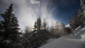 Un giorno di inverno nelle alpi svizzere Immagini Stock