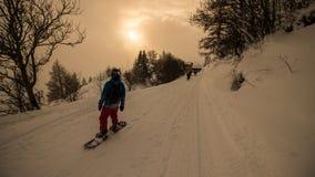 Un giorno di inverno nelle alpi svizzere Immagini Stock Libere da Diritti