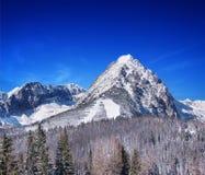 Un giorno di inverno soleggiato in alto Tatras, la Slovacchia Fotografia Stock Libera da Diritti