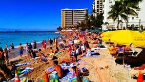 Un giorno di Natale alla spiaggia Fotografie Stock Libere da Diritti