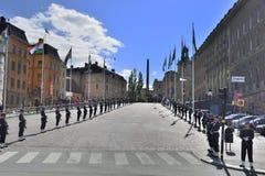 Un giorno di viaggio a Stoccolma, la Svezia Fotografia Stock