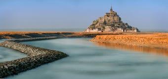 Un giorno a Mont St Michel Fotografia Stock Libera da Diritti