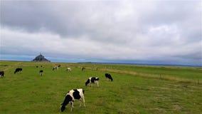 Un giorno nuvoloso in Normandia fotografia stock libera da diritti