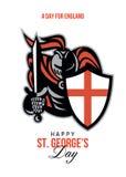 Un giorno per la st felice George Greeting Card dell'Inghilterra Fotografia Stock