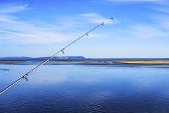 Un giorno perfetto per pescare Immagini Stock Libere da Diritti