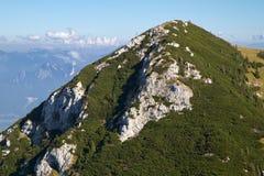 Un giorno piacevole nelle alpi bavaresi, la Germania Fotografie Stock
