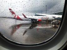 Un giorno piovoso all'aeroporto di Vancouver fotografia stock libera da diritti