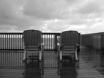 Un giorno piovoso alla spiaggia Fotografie Stock Libere da Diritti