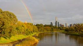 Un giorno tipico di autunno di Melbourne Immagine Stock