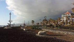 Un giorno ventoso in Teneriffa fotografie stock