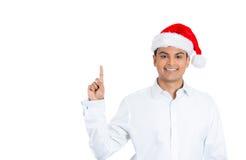 Un giovane bello uomo sicuro in cappello di Santa Fotografie Stock Libere da Diritti