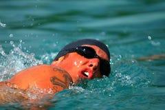 Un giovane nuotatore Immagine Stock