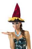 Un giovane sorceress Immagini Stock