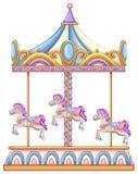 Un giro del cavallo al carnevale Immagine Stock