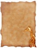 Un girrafe su tela di canapa Fotografie Stock Libere da Diritti