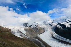 Un glaciar hermoso, glaciar de Grenz foto de archivo libre de regalías