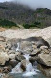 Glacier (neige de le pont de) pendant l'été Pyrénées Photo stock