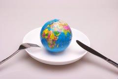 un globe dans le paraboloïde Image stock