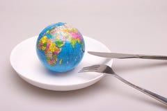 un globe dans le paraboloïde Photos libres de droits