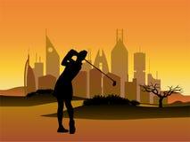Golfeur de femme Photographie stock libre de droits