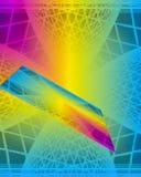 Un gráfico brillante hecho de cuadrados y de otras formas Imagen de archivo