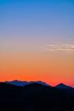 Un gradient vertical de coucher du soleil de Topanga Photo libre de droits