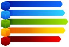 Un grafico Colourful di informazioni illustrazione di stock