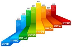 Un grafico Colourful di informazioni di punto illustrazione vettoriale
