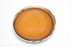 Un grafico a torta di zucca casalingo fresco Fotografia Stock Libera da Diritti