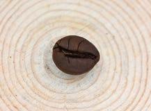 Un grain de café est sur le tabouret d'arbre Photos libres de droits