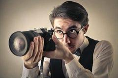 Un gran fotógrafo fotos de archivo libres de regalías