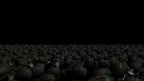 Un gran número de granadas del combate ilustración del vector