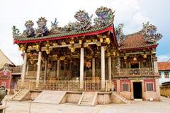 Un gran templo majestuoso magnífico del clan en penang Fotografía de archivo libre de regalías
