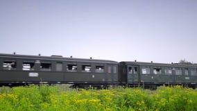 Un gran tren de trabajo viejo del vapor metrajes