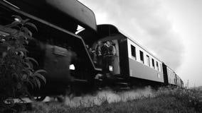 Un gran tren de trabajo viejo del vapor almacen de video