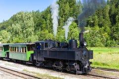Un gran tren de trabajo viejo del vapor Foto de archivo