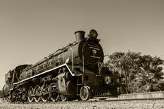 Un gran tren de trabajo viejo del vapor Imágenes de archivo libres de regalías