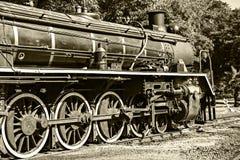 Un gran tren de trabajo viejo del vapor Fotos de archivo libres de regalías