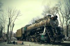 Un gran tren de trabajo viejo del vapor Fotografía de archivo libre de regalías