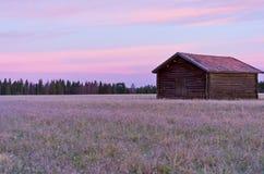 Un granaio del legname fotografia stock libera da diritti