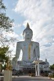 Un grand Bouddha blanc, temple Image libre de droits