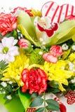 Un grand choix d'amour fleurit au début du ressort Images stock