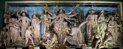 Un grand choix d'idoles de Maa Durga chez Kolkata, le Bengale-Occidental Photo libre de droits