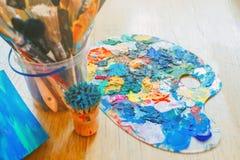 Un grand choix de couleurs audacieuses lumineuses pour l'inspiration Image stock