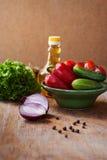 Un grand choix de légumes sur la table Image stock