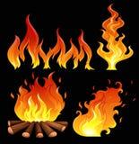 Un grand feu Image libre de droits