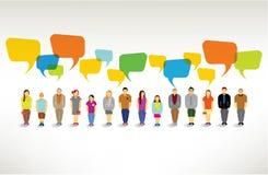 Un grand groupe de personnes se réunissent ensemble illustration de vecteur