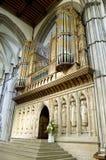 Un grand organe de cathédrale de Rochester, Kent, R-U. Images libres de droits
