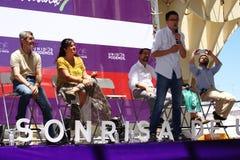 Un grand rencontrant en général la campagne électorale 97 Image libre de droits